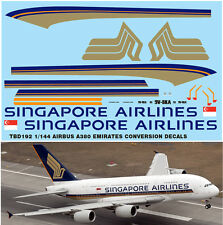 1/144 AIRBUS A380 SINGAPORE AIRLINES LIVERY REVELL  DECALS TB DECAL TBD192