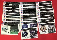 1976 Popsicle Football Complete set of 28 teams plus a 29th variation card