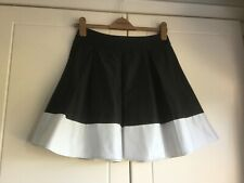 """H&M Beautiful Pleated SKIRT in Black & Cream EUR 36 Waist about 27"""""""