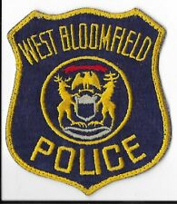 West Bloomfield Police Department, Michigan Shoulder Patch