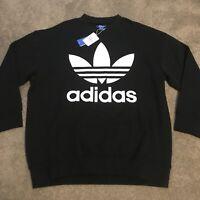 03ed13efe Adidas ADC Sweatshirt BQ1814 Mens Originals Trefoil Black Sweater Pullover  Sz Lg