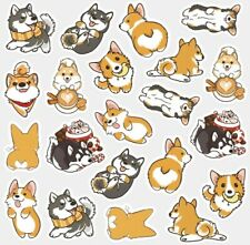 Kawaii Husky Corgi Dog Stickers Scrapbooking