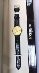 Unworn Heavy Solid 18ct Gold Longines Gents Wristwatch With Box & Docs