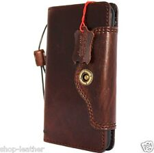 Genuine vintage leather Case for apple iphone 6s plus book wallet cover Retro