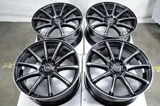 "18"" Wheels Fit Audi TT Fusion Accord Civic Elantra Sonata Kia Soul Black Rims"