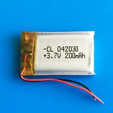 3.7v 200mAh Li Po Battery for MP3 MP4 Video pen GPS Headphone Bluetooth 402030