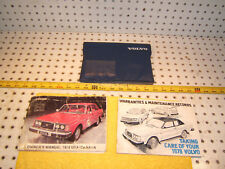 Volvo 1978 242 244 245 Owners's OEM 1 set of 2 Manuals Volvo Blue OEM 1 Pouch