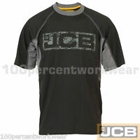 JCB Work Wear Mens TRENTHAM Heavyweight Black Short Sleeve Tee T Shirt Crew Neck