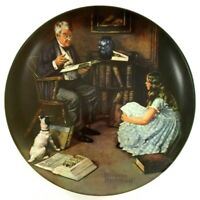 "VINTAGE Norman Rockwell ""The Storyteller"" 1983 Knowles Collectors Plate Numbered"