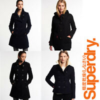 New Ladies Womens Superdry Winter Coats Jackets Wool Toggle Luxury Trench Sizes