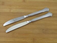 """2 Two International Silver Cascade Dinner Knives 9 1/4"""" Rogers Stainless"""