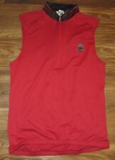 SUGOI 1/2-Zip Cycling Mens Sleeveless Jersey, Red Pocket, Polyester, Size S, EUC