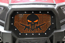 Steel Grill for Polaris RZR 1000 XP 15-17 RZR 900S PUNISHER AR15 Orange Underlay