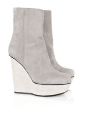 ACNE STUDIOS Hydro suede wedge boots Size 37