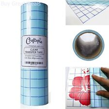 Clear Transfer Tape Roll Self Adhesive Vinyl Clear Blue Transfer Paper Tape Roll