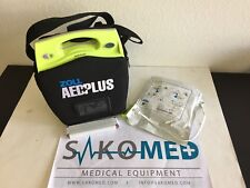 ZOLL AED Plus Defibrillator/ NEW Battery and NEW Adult CPR D-Pad and Carry case