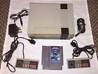 NES NINTENDO CONSOLE + 1 GAME + TV RF LEAD + 2 PADS + POWER : WORKING UK VERSION