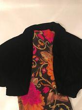 Vintage Black Velvety Classy Women Bolero For Holiday Evening Party Women Size 6