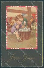 Colombo Children Bambini Rooster Egg Postcard cartolina EE4761