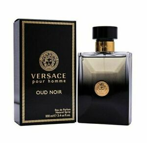 Versace Pour Homme Oud Noir 3.4 oz EDP Cologne for Men New In Box