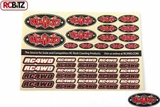 RC4WD Medium Decal Sheet Logo Emblem Sign Sticker Pre Cut Z-S1272 rc4wd.com