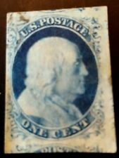 Us stamps 19th century used scott #9 XF with 3 other stamps showing