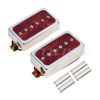 Single Coil Bridge Neck Pickups Set for Electric Guitar Parts Red Pearl