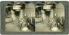 Norway TELEMARKEN Two Women Carding & Spinning Wool Stereoview 13497 ve409a fx