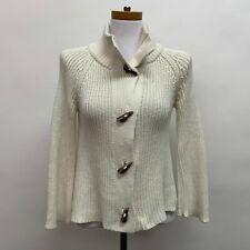 Talbots Women's Cardigan Sweater Petite Ivory Long Sleeve Collared