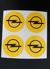 4x 45 mm fits opel wheel STICKERS center badge centre trim cap hub alloy yel