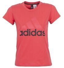 New Adidas Logo Top T-Shirt - Pink - Ladies Women's Girls