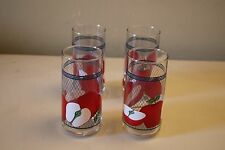 Set of 4 Apple Kitchen Drinking Glasses