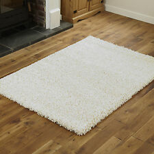 SMALL SHAGGY RUG CREAM 40x60cm SIZE RUG NON SHED BEST QUALITY SOFT 5CM THICK MAT