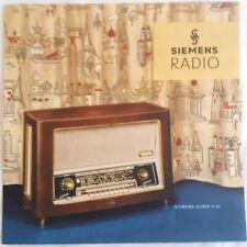 Siemens Radio 1950's Berlin Germany Vintage Advertisment RARE