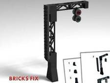 LEGO TRAIN RAILROAD - GANTRY SIGNAL * CUSTOM TRAIN MOC w PARTS & INSTRUCTIONS