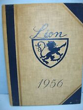 1956 Lion, Burdett College, Boston, Massachusetts Yearbook