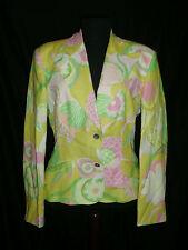 DOLCE & GABBANA ~ FLORAL Linen Blend blazer ~ L ; 46 * AUTHENTIC D&G