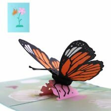 Popup 3D Butterfly Greeting Card Birthday Party Invitation Card Handcraft Gift