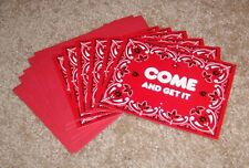C.R.Gibson Creative Papers Red Bandana Party Invitations...Set of 6 w/envelopes