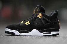 2017 Nike Air Jordan 4 IV Retro Royalty Black Gold Size 7.5. 308497-032 1 2 3