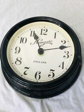 Traditional Best Round Metal Black Newgate Style Station Time Wall Office Clock