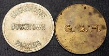 Lot of 2 Parking Tokens - Sherbrooke & G.G.H - Free Combined Shipping