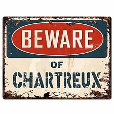 Pp1560 Beware of Chartreux Plate Rustic Chic Sign Home Room Store Decor Gift