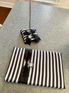 Nightmare Before Christmas Jack Sally Wedding black white stripe guest book pen