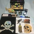 Halloween Bundle Skeleton Fish Aquarium, Piranah, Runner, Strobe, Lights, Decals