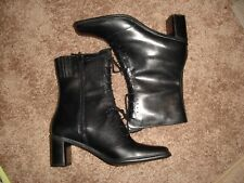 129ba1f14af New Danelle Black Below Calf Boots Size 8M - Part Genuine Leather Part Man-