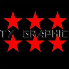 STAR VINYL DECAL DECORATION SYMBOL STICKER  CAR BOAT LAPTOP WALL 1 SET OF 6