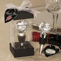 Crystal Elegant Red Wine Bottle Stopper Cork Reusable Vacuum Sealed Gift Beamy