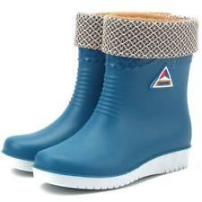 Women Ladies Winter Warm Ankle Boots Rain Flat Chelsea Wellies Wellington Shoes