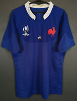 MINT MEN'S FRANCE NATIONAL WORLD CUP 2019 RUGBY UNION HOME SHIRT JERSEY SIZE M
